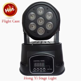 dj controllers Promo Codes - moving head light avec flight case mini wash led 7x12W rgbw Moving head light mini 8piece lot dj controller light fast shippinp