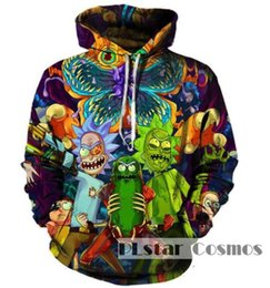 Wholesale Cute Pullover Sweatshirts - New Fashion Couples Men Women Unisex Cute Rick and Morty 3D Print Hoodies Sweater Sweatshirt Jackets Pullover Top S-5XL TT23