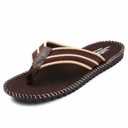 Wholesale Wholesale Fabric England - Wholesale-2016 Men's Sandals Slippers Flip Flop England Style Fashion Beach Shoes Comfortable soft Casual Outdoor Zapatos flat
