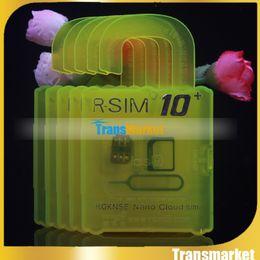 Wholesale Unlocked Softbank - R-SIM 10+ R SIM 10 RSIM 10+ Rsim10+ Unlock Card for iphone 6s 6 5S 5 4S ios 9 9.X 3G 4G CDMA Sprint AU Softbank s direct use no Rpatch