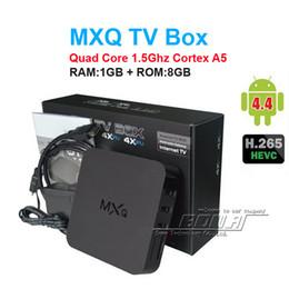 Wholesale Cortex A5 - 14PCS Original KDI MXQ TV Box Amlogic S805 Quad-Core Cortex-A5 Mali-450 Quad-Core H.264 H.265 KDI Pre-installed MX MXQ Android TV BOX