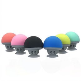 Wholesale Beautiful Stand - BT280 beautiful mini mushroom Car speaker subwoofer Bluetooth wireless universal speaker silicone sucker phone tablet computer stand