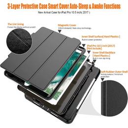 Wholesale Ipad Mini Case Light - Heavy Duty Armor Impact Rugged Shockproof Hybrid Defender Case Auto Sleep Awake Cover FOR IPAD MINI IPAD 2 3 4 AIR 2 PRO 9.7 PRO 10.5 1PCS