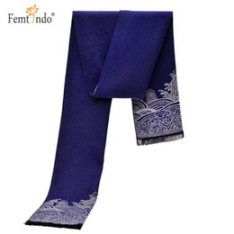 Wholesale Cashmere Large Scarf - Wholesale- Large Warm Winter Solid Black Grey Blue Color Men Scarves Fular Mujer Scarf Luxury Brand Cashmere Wool Scarf Hombre Bufandas