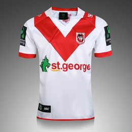 Wholesale George T Shirt - 2016 St. George Rugby Jersey Thai version of St. George Rugby Uniforms T-shirt S-2XL Australian Rugby Jersey St George Illawarra DRAGONS