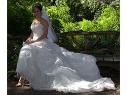 Атласная тафта онлайн-Настоящая невеста Тафта милая аппликации из бисера декольте Ruched плиссированные ручной работы цветок кор-174 заказ клиента платье де Нойва свадебное платье