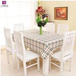 2019 pezzi da tavola per matrimoni Tovaglia decorativa impermeabile del PVC della tovaglia del tè di alta qualità dell'hotel di stile rustico dell'hotel Tovaglia decorativa domestica Tabella elegante