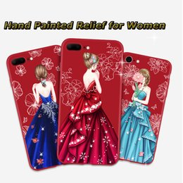 Wholesale Hand Paint Iphone Case - For iphone 6 6s 6plus 6s plus 7 7plus phone cases exquisite hand-painted cellphone back cover TPU material for women