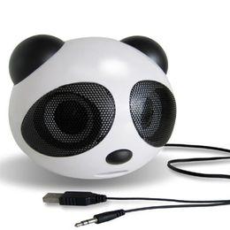 Toptan-Mini Panda Şekli USB 2.0 Taşınabilir Dizüstü Dizüstü Masaüstü Cep Telefonu için Aktif Hoparlör Stereo Hoparlör nereden
