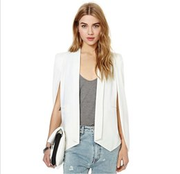 Wholesale Women Duster Coat - Slim cut Cloak Women Casual Open Front Cape Trench Duster Coat Longline Blazer Elegant Cloak with Satin Lined expose your arms