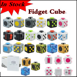 Wholesale Metal Cubes - In stock Decompression Toy Fidget cube first American decompression anxiety Toys for killing time via DHL