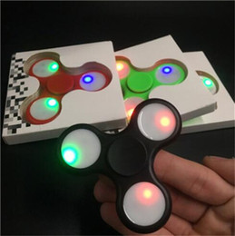 Wholesale Best Online Shopping - Best Hand Finger Spinner LED with Switch Fidget Spinner Graffiti Triangle Finger Spinning Decompression Fingers Online Shop