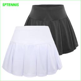 Wholesale Sports Skirt Tennis - Wholesale- Girl Tennis Badminton Skirt Women Sports Bottom With Shorts for Children Adult
