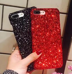 Wholesale Nice Apple - For Iphone X 8 8plus Bling Glitter new Case i7 i7+ i6 6s plus Luxury Nice case rhinestone hard back cover