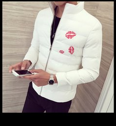 Wholesale Korean Corsets - In the winter of 2016 small white feather padded cotton men's Korean cultivating spiritual guy short corset
