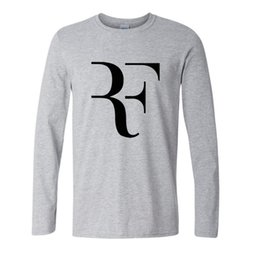 Wholesale Top Quality Wholesale Clothing - Wholesale- Summer Fashion mma T shirt Men Roger Federer Shirt Brand 100% Cotton High Quality Clothing Tops Tees Men Long Sleeve Shirts 2017