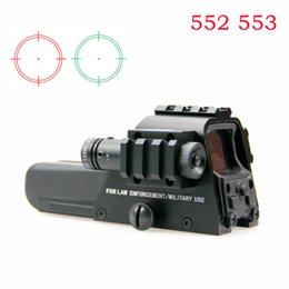 Wholesale Dot Laser Pointer - Spike 551 552 553 20mm Tactical Holographic Scope Red Green Dot Reflex Sight Riflescope With Green Laser Pointer For Rifle