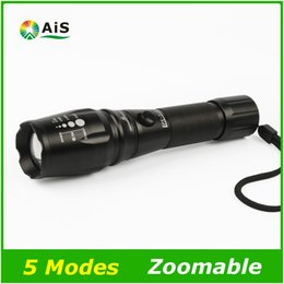 Wholesale Tactical Lights For Sale - Hot sale IPX 518 LED Flashlight 18650 Zoomable LED Torch xml T6 3800LM led Focus zoom light for 18650 Rechargeable or AAA Battery