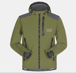 Wholesale Men S Autumn Jacket - Wholesale-Men Waterproof Breathable Softshell Jacket Men Outdoors Sports Coats women Ski Hiking Windproof Winter Outwear Soft Shell jacket