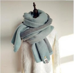 Wholesale Wool Shawls Sale - Pineapple Staples Imitation Cashmere Long Scarves Women's Fresh Style Winter Thick Scarves Contrast Color Wool Scarves For Sale