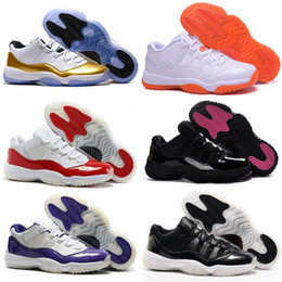 Wholesale Metallic Tables - 11 Low Olympic Metallic Gold White Varsity Red Cherry Navy Gum Concord Basketball Shoes Sneakers Women Men AIRS Lows XI Sports Shoes