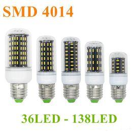 Wholesale Led 35w - 2017 SMD 4014 E27 E14 12W 18W 25W 30W 35W Led Bulb Lights Corn Lights AC 85-265V lamp bulbs 360deg Spot light