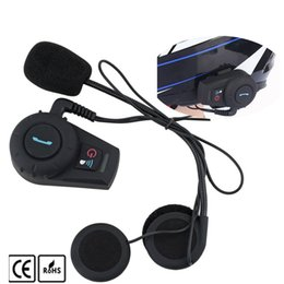 Wholesale Motorcycle Helmets Mp3 - FDC 500M Motorcycle BT Bluetooth Interphone Headset Helmet Intercom Intercomunicador with FM Radio for Phone GPS MP3 Wireless Intercom