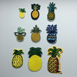 Wholesale Clothing Patches Wholesale - Fabric Fake Pineapple Costume Embroidered Clothes Patches,Fruit Pineapple Sew On Iron On Patch,Clothing For Jackets,Backpacks