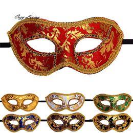Wholesale Vintage Masquerade Ball Masks - Wholesale- Vintage Masquerade Masks 1 PC Venetian Masquerade Halloween Mask Fancy Elegent Retro Mask Half Face Party Ball Masks DEC 21TH