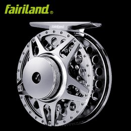 Wholesale Fishing Reels Ship - 2BB+1RB 1 2 70mm Full Metal fly fishing reel CNC machined aluminum fish wheel left right hand Interchangeable fishing tackle free shipping