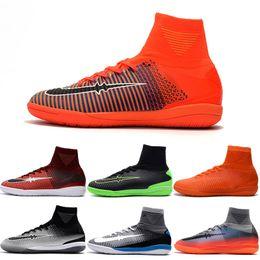 Wholesale Indoor Winter Boots - Drop Shipping Wholesale Football Shoes Men Mercurial Superfly II IC Indoor Soccer Boots 2017 New Men's Original Sport Shoes Size 39-45