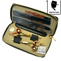 Tesouras smith chu on-line-5.5 Polegada SMITH CHU Venda Quente Tesoura Do Cabelo de Alta Qualidade Tesoura De Corte De Cabelo Emagrecimento Tesoura Barbeiro Ferramenta de Cabelo Salão de Cabeleireiro, LZS0064
