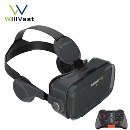 Wholesale Vr Reality - Wholesale- BOBOVR Z4   Z4 mini Virtual Reality Goggles 3D Glasses VR Box with Headphone Polarized Glasses for Android iPhone 4.7-6.0''