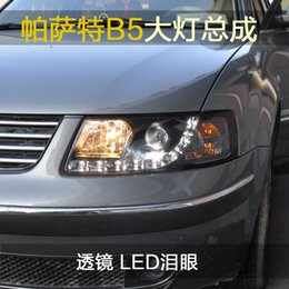 Wholesale Passat B5 Headlights - FOR Xiushan PST Passat B5 LED Leiyan headlight lens old modified xenon headlight assembly