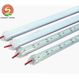 "Wholesale 12v Light Strips - Hard LED Strip 5630 SMD Cool Warm White Rigid Bar 72 LEDs 3500 Lumen LED Light With ""u"" Style-Shell Housing With End Cap+Cover"