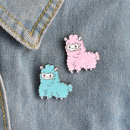 Wholesale Boys Sheep - Wholesale 5pcs s - new drops of oil dripping Meng cute sheep baby metal animal cartoon brooch needle button boy and girl decoration children