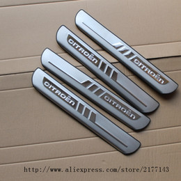 Wholesale Scuff Plate Door - Accessories FIT FOR 2011 2012 2013 2014 Chrome CITROEN C4 C4 L Stainless Door Scuff Sill Plates Cover Trim Chrome Molding 2015