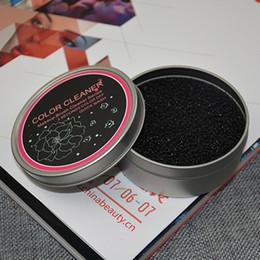 Cojín de mano boxeo online-Maquillaje cepillo limpieza lavado artefacto esponja seca cambio de color limpiador Estera de lavado Mano Cojín Sucker Scrubber Board Cosméticos limpia herramienta caja de hierro