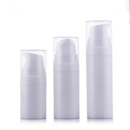 Wholesale Wholesale Mini Lotions - 5ml 10ml 15ml White mini Airless Pump Lotion Bottle,sample and test bottle ,Airless Container,Cosmetic Packaging F2017493