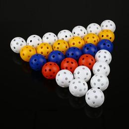 Wholesale One Piece Balls - Wholesale- 50Pcs Plastic Airflow Hollow Golf Practice Training Balls Golf Accessories