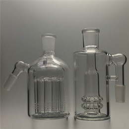 Wholesale Glass Ash - Glass Ash catcher bong 45&90 degrees 11 arms tree Ashcatcher water pipes bongs 14mm 18mm heavy dab oil rig smoking accessoruy Ash catchers