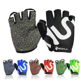Wholesale Wholesale Women S Fashion Gloves - Gym Gloves Men Women Body Building Fashion Fingerless Fitness Glove Anti Slip Weight Lifting Sport Training Half Finger Free Shipping