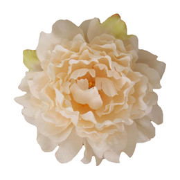 """Wholesale Large Silk Roses - 5.9"""" Large Silk Peony Flower Heads Multi color for Wedding Party Decoration Artificial Simulation Silk Peony Camellia Rose Flower Wall"""