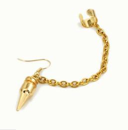 Wholesale Ear Cuffs For Sale - Hot Sale Fashion Metal Punk bullet tassel Ear Cuff Hyperbole Clip Earrings For WOMEN girls