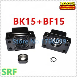1 set CNC Ballscrew end support BK15 Fixed BF15 Floated side bearing block mount