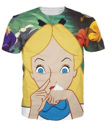 Wholesale Camisetas Nylon - Alice in Cocaland T-Shirt sick sexy naughty vibrant tee Casual tops camisetas fashion clothing t shirt for women men