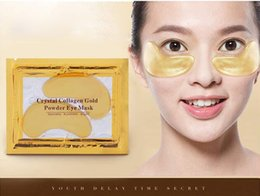 Wholesale 24k Gold Mask Gel - 24k Gold Eye Collagen Aging Wrinkle Under Crystal Gel Patch Anti Mask + Free Shipping + Free Gift