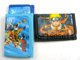 Wholesale Naruto Wallets - Wholesale - 36pcs Hanna Naruto Comic Handbag wallet Purses Charming 1 zip free shipping jk8
