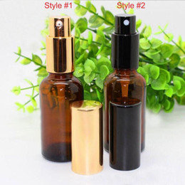 Wholesale Wholesale Amber Glass Spray Bottles - 2017 Hot Selling USA 30ml Brown Perfume Glass Spray Bottle 1Oz 30ml cosmetic Amber essential oil Refillable Spray Perfume Bottles
