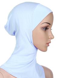 Wholesale Inner Hijab Caps - Top quality Muslim Full Cover Inner Hijab Caps Islamic Underscarf shawl 20 Colors Islamic inner cap